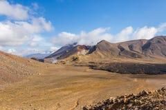 Paysage dramatique de montagne avec un cratère volcanique Photos stock