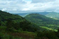 Paysage dramatique de montagne de Satara Image libre de droits
