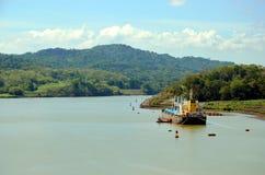 Paysage du canal de Panama images stock