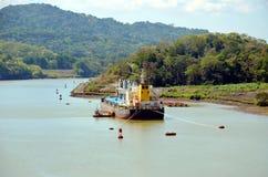 Paysage du canal de Panama photographie stock