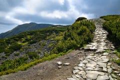 Paysage du chemin de montagne de Babia Photos stock