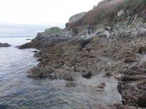 Paysage du Golfe du Morbihan - roches et mer - Frances Photographie stock libre de droits