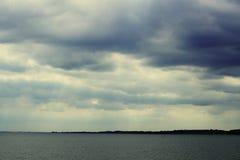 Paysage du lac Miedwie, Stargard, Pologne Image stock
