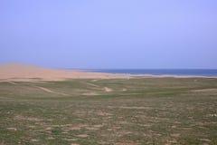 Paysage du Lac Qinghai le long de la route Images libres de droits