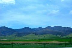 Paysage du Lac Qinghai le long de la route Photos libres de droits