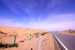 Paysage du Lac Qinghai le long de la route Image libre de droits