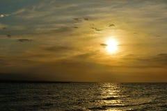Paysage du Lac Qinghai le long de la route Photo stock