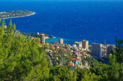 Paysage du Monaco de la vue supérieure photos stock