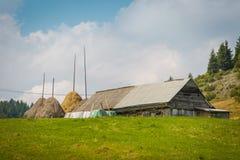 Paysage du pays dans la région de la Transylvanie Photographie stock libre de droits