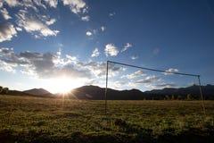 Paysage du soleil de montagnes Images libres de droits