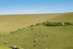 Paysage du Sussex images libres de droits