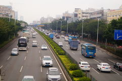 Paysage du trafic de section de Baoan d'autoroute nationale de Shenzhen 107 Image stock