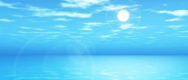 paysage en format large de l'océan 3D Photos stock