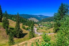 Paysage en la Moldavie, Roumanie Photo stock
