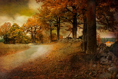 Paysage en octobre. Image libre de droits