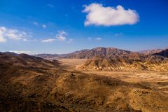Paysage en Pan de Azucar National Park dans le désert d'Atacama au Chili, images stock