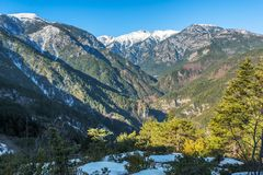 Paysage en parc national d'Olympe en Grèce images stock