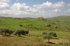 Paysage en Sicile, Italie Image libre de droits