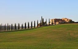 Paysage en Toscane Photographie stock libre de droits