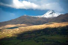 Paysage et belles montagnes en île du sud, Nouvelle-Zélande image stock