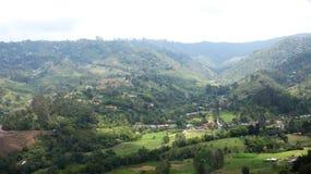 Paysage et brume de montagne Image libre de droits