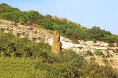 Paysage et ciel de roche Photographie stock