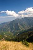 Paysage et cloudscape de montagne de Troglav à la fin d'été Photographie stock libre de droits