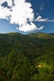 Paysage et cloudscape de montagne de Troglav à la fin d'été Images stock
