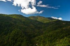 Paysage et cloudscape de montagne de Troglav à la fin d'été Photos libres de droits