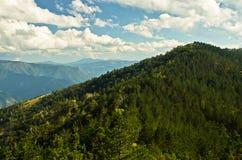 Paysage et cloudscape de montagne de Troglav à la fin d'été Photos stock
