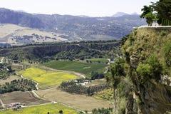 Paysage et falaise de l'Espagne Images stock
