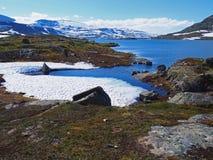 Paysage et montagnes de la Norvège Image libre de droits