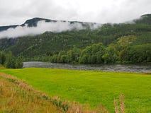 Paysage et montagnes de la Norvège Photos libres de droits