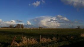 Paysage et nuages en Hollande Photo libre de droits