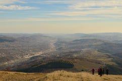 Paysage et randonneurs de montagne Photos libres de droits