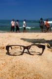 Paysage et verre Photos libres de droits