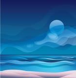 paysage exotique tropical de plage d'île illustration libre de droits
