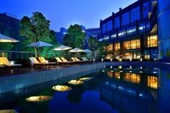 Paysage externe d'hôtel de l'étoile de la Chine Photo stock