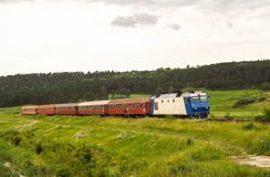 Paysage ferroviaire de Roumanie Photo stock