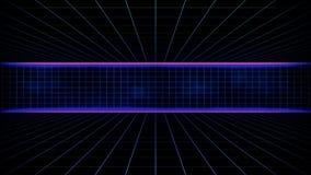 Paysage futuriste de fond de la science fiction rétro des années 80 illustration de vecteur