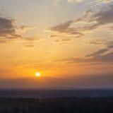 Paysage gentil de coucher du soleil d'été photographie stock libre de droits