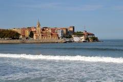 Paysage à Gijon, Asturies Photographie stock libre de droits