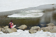 Paysage glaciaire de la vallée de Madriu-Perafita-Claror Image stock