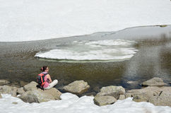 Paysage glaciaire de la vallée de Madriu-Perafita-Claror Photographie stock