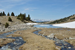 Paysage glaciaire de la vallée de Madriu-Perafita-Claror Photos stock