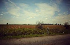 Paysage idyllique de terres cultivables Image libre de droits