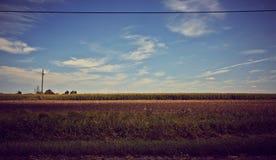 Paysage idyllique de terres cultivables Images stock