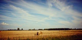 Paysage idyllique de terres cultivables Photos libres de droits