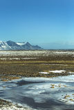 Paysage impressionnant de montagne de volcan en Islande Photographie stock libre de droits