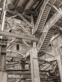 Paysage industriel d'angle faible photos stock